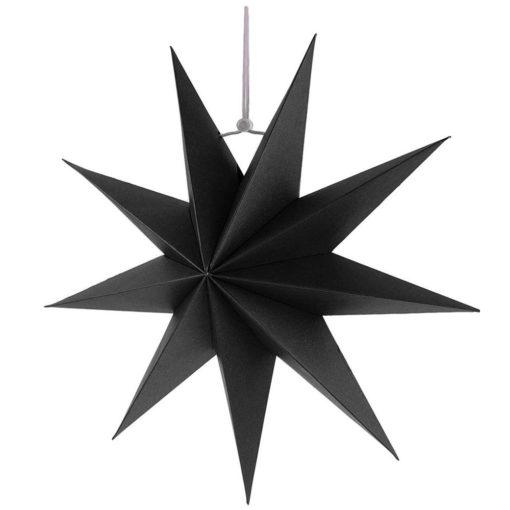 Zwarte kerstster 45cm