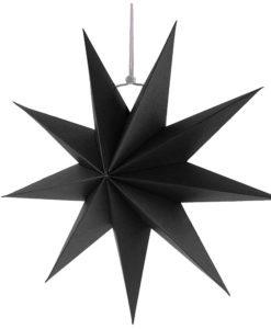 Zwarte sterren kerst