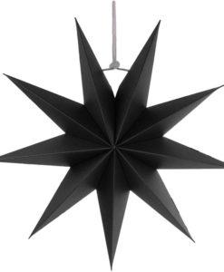 Zwarte ster kerst 9 punten 45cm