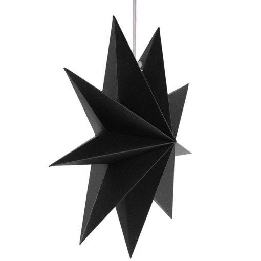 Zwarte ster kerst zijaanzicht