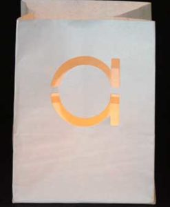 candlebag met letter a
