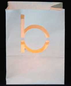 candle bag met letter b