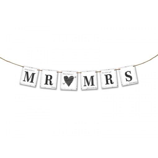 Mr & Mrs banner speciaal voor de bruiloft