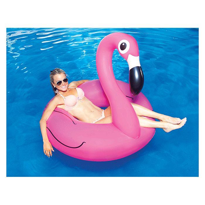 knalroze opblaasbare flamingo