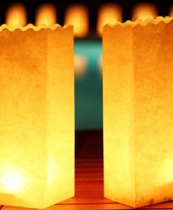 blanco , neutrale candlebag candle bag