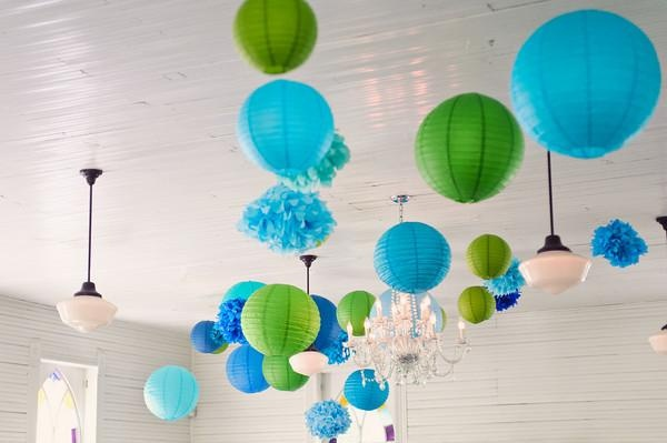 Lampion donker blauw 35 cm candlebagshop - Blauwe turquoise decoratie ...