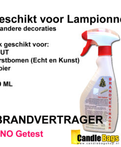 impregneermiddel voor brandvetrager lampionnen en decoraties