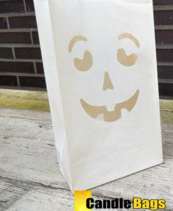 neutraal gekleurde Halloween candlebag