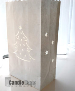 candle bag met kerstboom