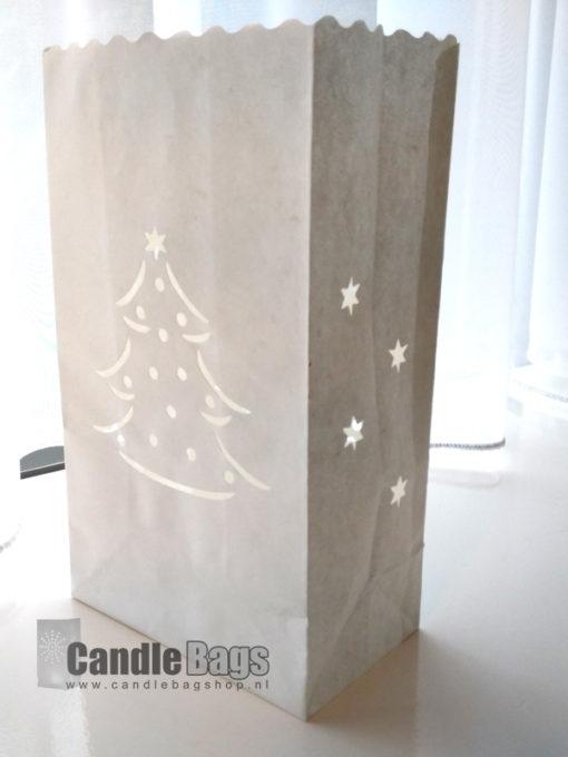 candle bag met kerstboom