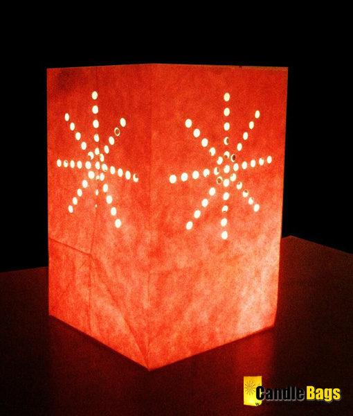 Candle Bag midi rood