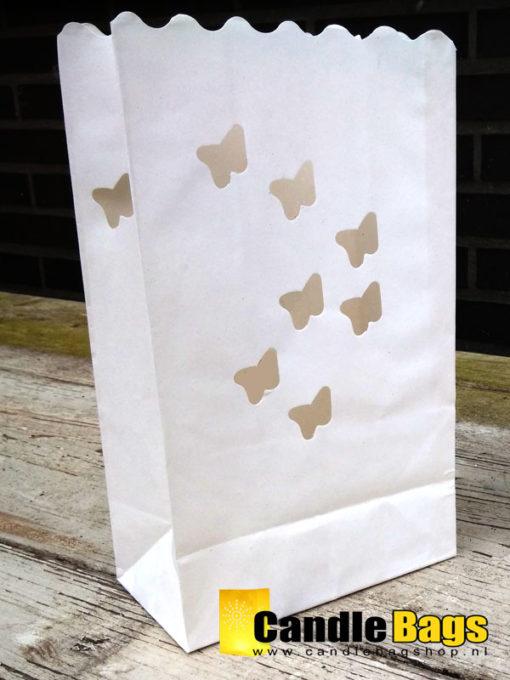 candle bag met vlinders
