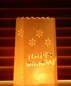 candle bag happy birthday