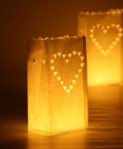 candle bag met hartjes