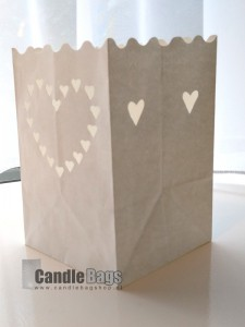 candle bag midi heart