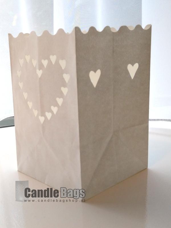 candle bag midi heart