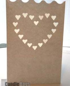 candlebag heart midi formaat