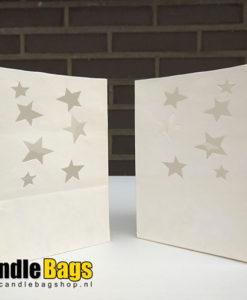 2 midi candle bags met sterren