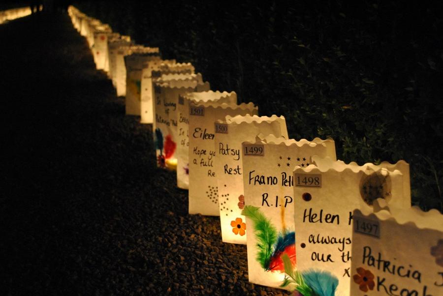 candlebags met versiering