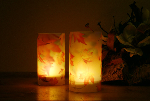 candlecover  Autumn Leaves