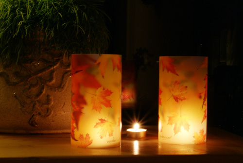 candlecover Autumn Leaves 2