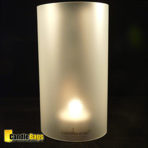 candlecover-clear frosted