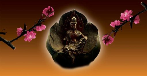 candlecover-Boeddha Bronze