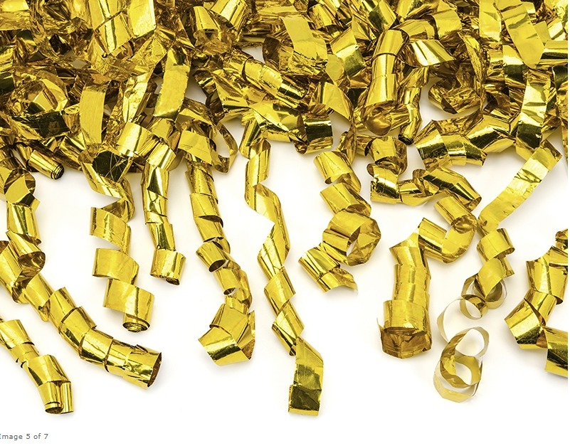 gouden streamers confetti shooter