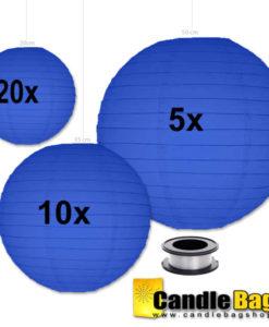 donker blauwe lampion voordeelpakket