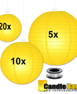 gele lampionnen voordeelpakket