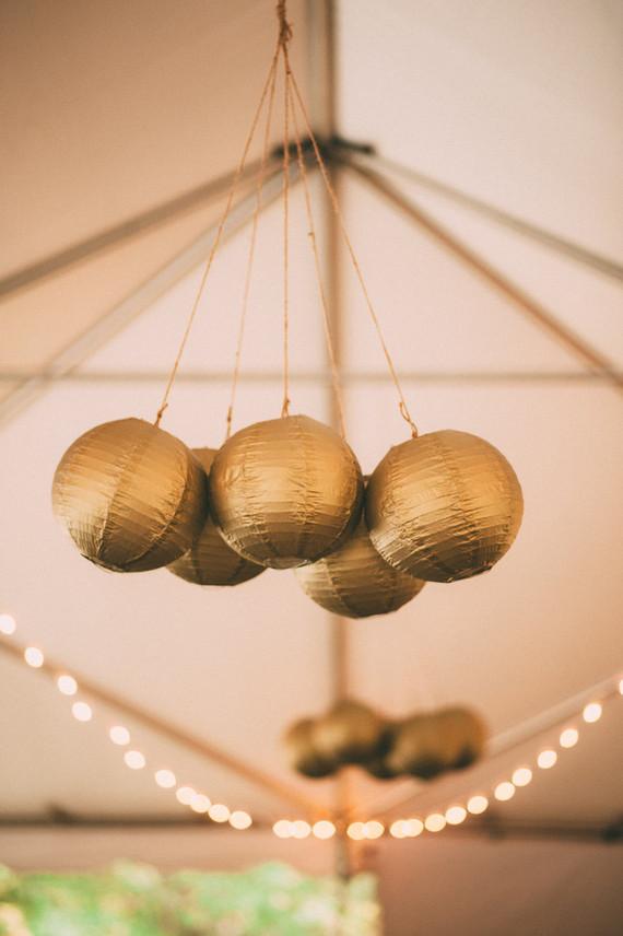 gouden lampionnen kluster