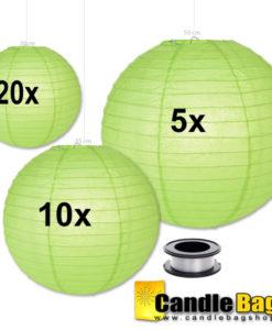 groene papieren lampionnen