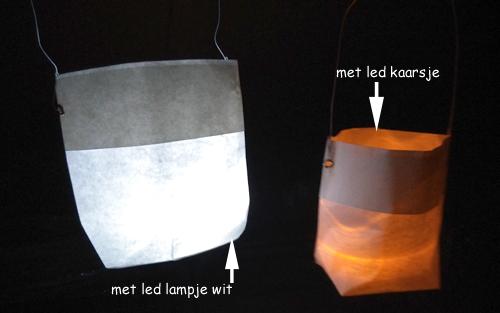 hangende candle bag in verschillende sfeer