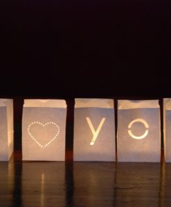 I heart you candlebag set