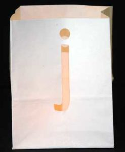 candle bag j