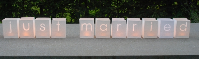 candle bags just married