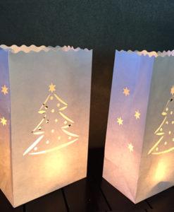 kerst candlebag met kerstboom