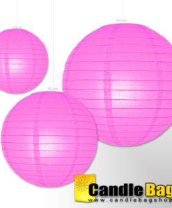 Candy roze lampion van 50cm