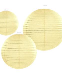 lampion creme kleurig papier verkrijgbaar in 20, 35 ,en 45 cm