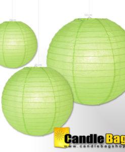 groene lampionnen van 50cm doorsnede