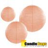 perzik kleurige lampion van 35cm