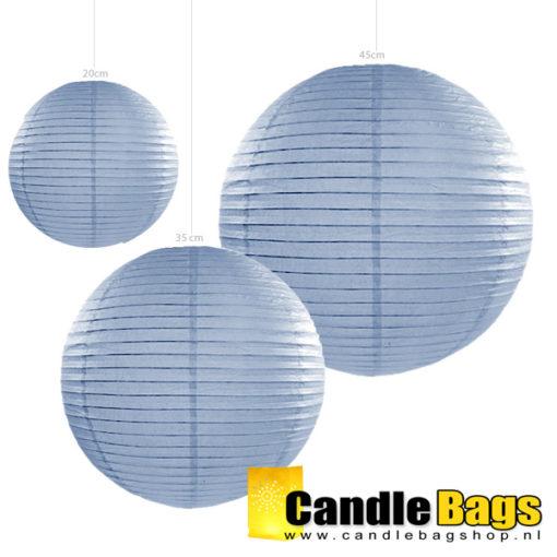 lampion misty blue 45cm