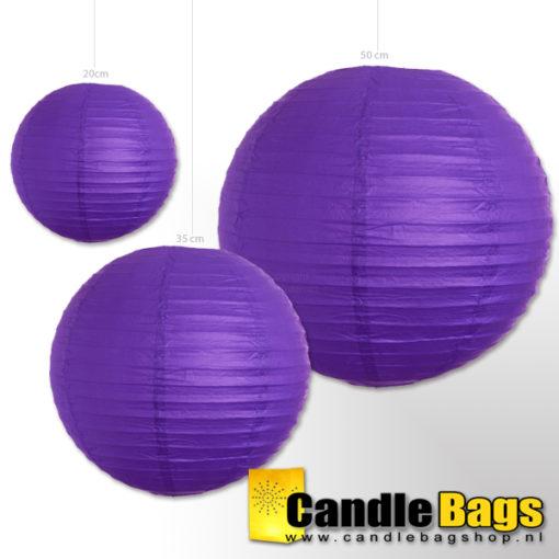 paarse lampion van 50cm