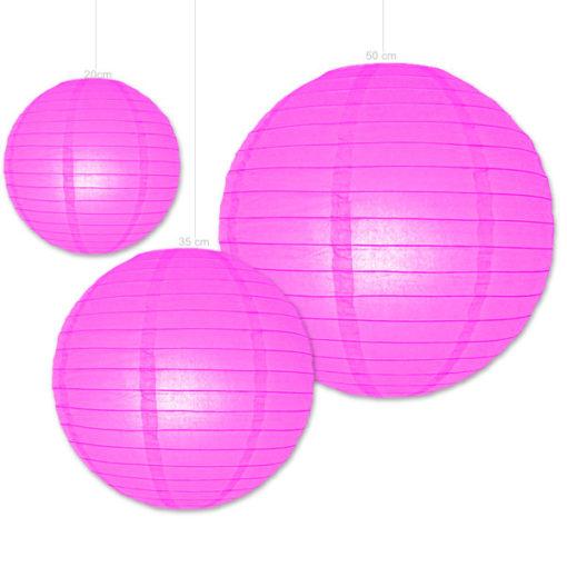 candy roze papieren lampionnen verkrijgbaar in diverse afmetingen