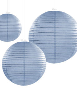 lampion papier in de kleur misty blue verkrijgbaar in 20 35 en 45cm