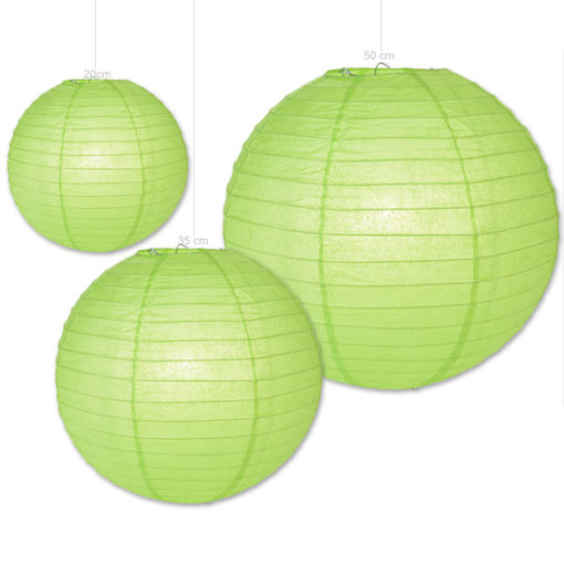 lampion groen - papieren lampion verkrijgbaar in 3 formaten