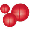 lampionnen van papier in de kleur rood verkrijgbaar in 20,35 en 50cm
