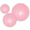 roze papieren lampionnen verkrijgbaar in diverse afmetingen