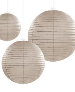 Lampion papier warm grijs verkrijgbaar in 20, 35, en 45cm