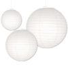 Witte lampionnen verkrijgbaar in verschillende formaten